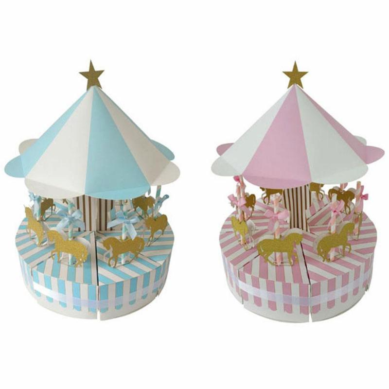 Romantic Carousel Candy Box Wedding Birthday Party Decoration Guest Valentine's Day Gift Festival Gift Children Baby Candy Box