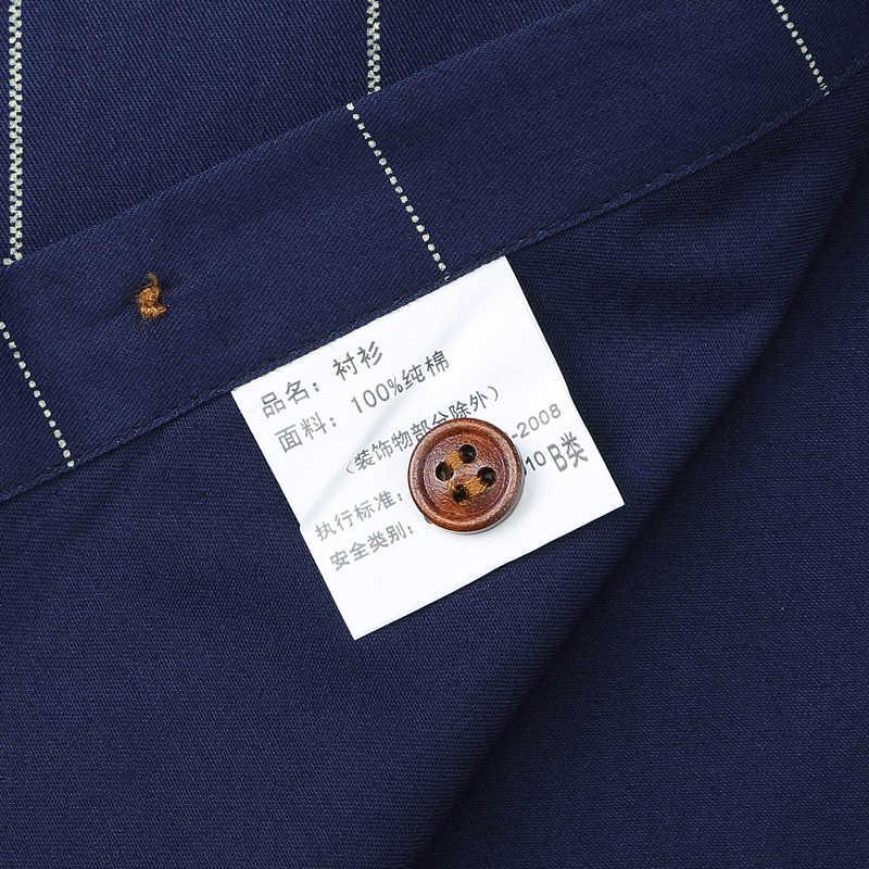 Nam TUXEDO Áo Cotton Dài Tay Kẻ Sọc Áo Sơ Mi Túi Áo Nam Chính Thức Chất Lượng Cao Kinh Doanh Slim Fit
