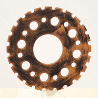 Retro Industrial Wind 12cm Mini Gear Ornaments Creative Furniture Wooden Wall Mural Decoration Creative Ornaments Wall