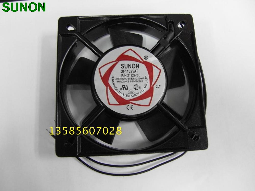 SUNON SUNON fan fan SF11025AT P / N 2112HBL 11CM 110*110*25MM 11*11 11025 220V ball bearing sunon sf 8025 at ac 220 axial flow fan 2082 hbl industrial cooling fan 2 wires 80 80 25mm double ball bearing