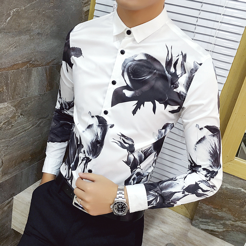 Mens Casual Short Sleeve Shirt Business Slim Fit Shirt Patchwork Blouse Top Black Red White Wild Tight for Men