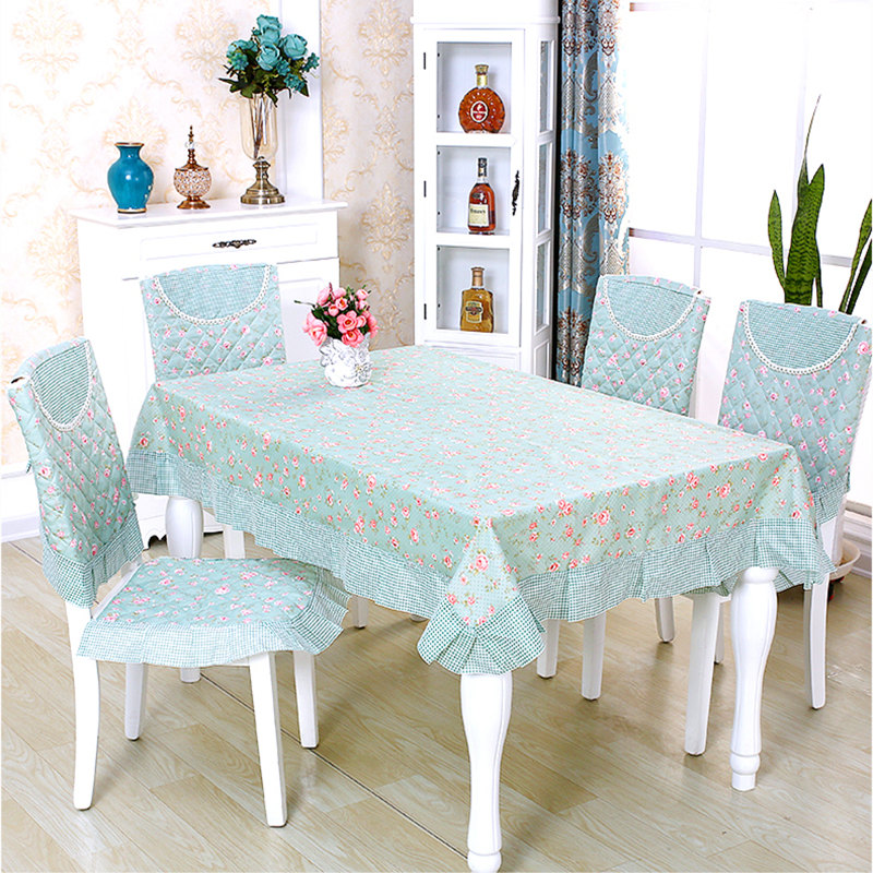 Dining Room Table Chair Covers: Rectangle Elegant Tablecloth Home Decoration 13 Pieces/set