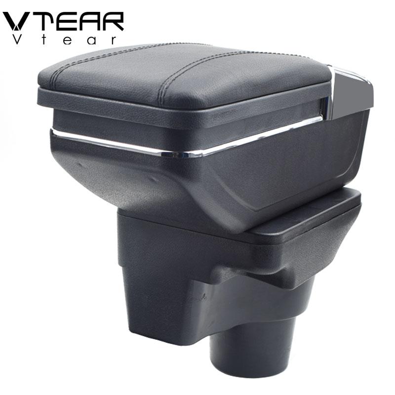 Vtear For 2017 KIA Rio 4 Rio X line armrest box central Store content box cup