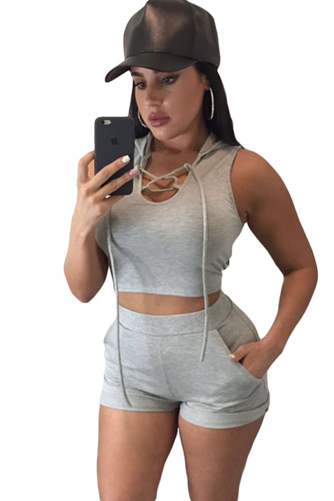 Grey-Hooded-Crop-Top-and-Short-Set-LC62000-11-1