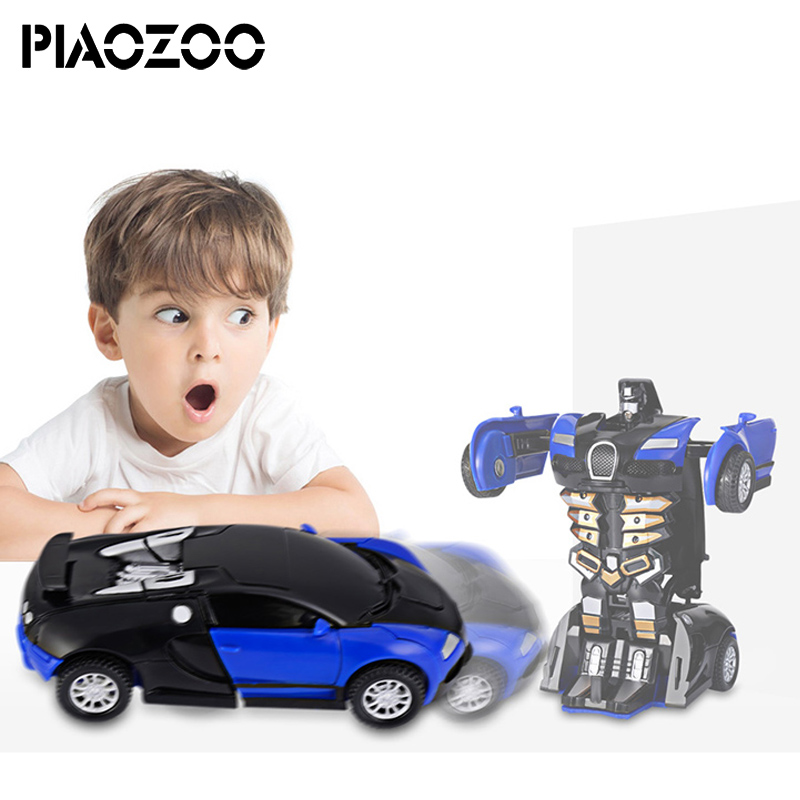 2 en 1 Robot coche un paso impacto deformación coche Mini transformación Robot juguete modelo clásico juguetes niño regalos para 3 años P20