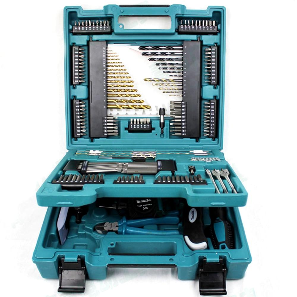 Makita MACCESS Series 200pcs KIT Drill Bits Batch Head Repair Tool Manually Sets Of Tools Batch Head Ratchet Wrench Screwdriver