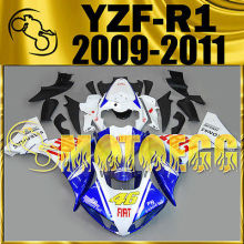 Motoegg Injection Mold Fairing For YAMAHA YZF R1 YZF-R1 09-11 46 Rossi Blue M11   Motorcycle plastic