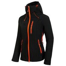 Women Softshell Jacket Waterproof Rain Coat Outdoor Hiking Clothing Female Windproof Fleece Jackets Sports Coat