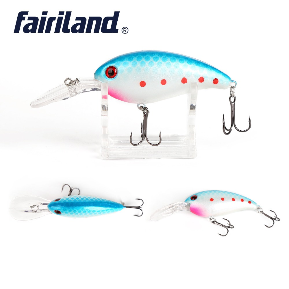 Crankbait Fishing Lure 7cm/2.8in 15g/0.53oz Thrill Thunder Floating Fishing Lure Rattle Sound Wobbler Artificial Hard 10 Colors