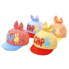 Flower Baby Hat Cotton Breathable Boy Girl Caps Spring Autumn Infant Beanie Baby Sun Cap With Ear 2017 Summer Baby Baseball Hats