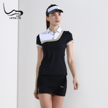 EAGEGOF летняя новинка Женская рубашка для гольфа с коротким рукавом классная Спортивная дышащая женская одежда для гольфа подарок на день Святого Валентина