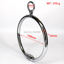SODANDY Locking Steel Collar Sex Slave Collar With Password For Woman Stainless Steel Bondage Sex Toys For Couples Adult Games
