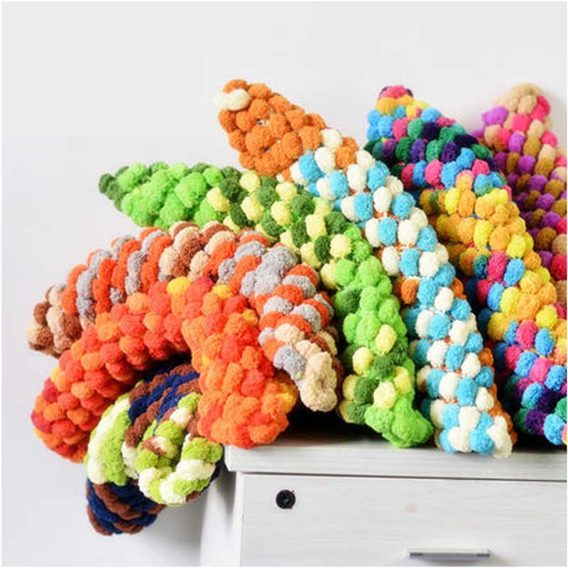 135 g/stks Nieuwigheid DIY Sjaal Dikke creochet Lijn Parel katoen garen voor haken 19 Kleuren Wol garen voor Trui breien