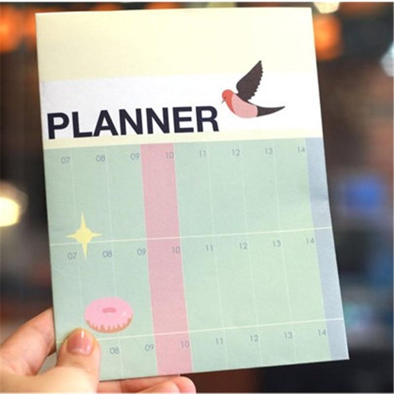 2017 Half Year Day Planner Calendar Cute Notebook Agenda Ring Binder Office School Supplies Korean Stationery Student 341
