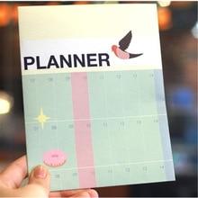 2017 Half Year Day Planner Calendar Cute Notebook Agenda Ring Binder Office School Supplies Korean Stationery Free Shipping 341