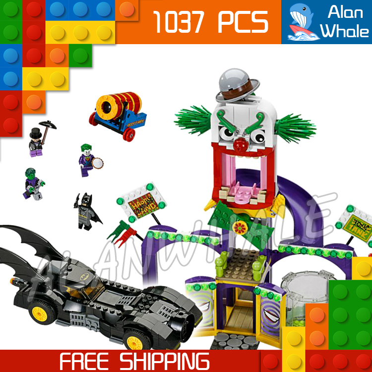 1037pcs SY512 Batman vs Joker Jokerland Model Building Kit Blocks Sets Gifts Boys Toys Superheroes Bricks Compatible with Lego kazi 608pcs pirates armada flagship building blocks brinquedos caribbean warship sets the black pearl compatible with bricks