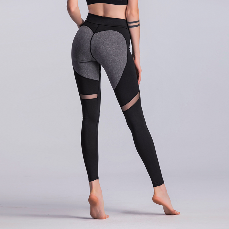 mesh yoga pants 2018 fashion pattern mesh splice harajuku 10780