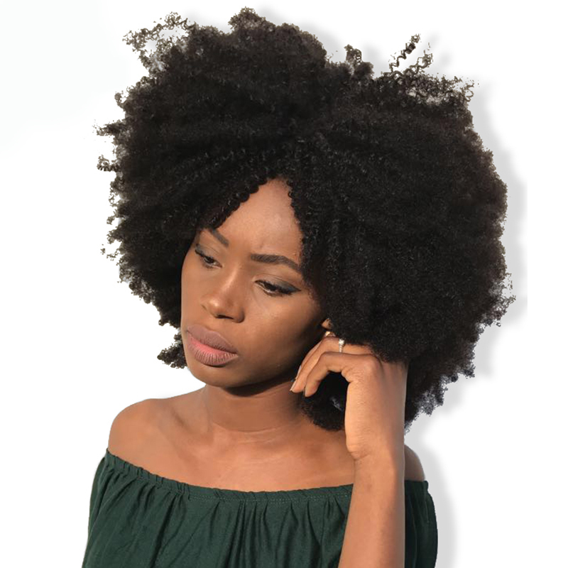 Mongolian Afro Kinky Curly Weave Human Hair 4B 4C 100% Natural Human Hair Bundles 1 Piece Remy Extensions CARA Hair Products