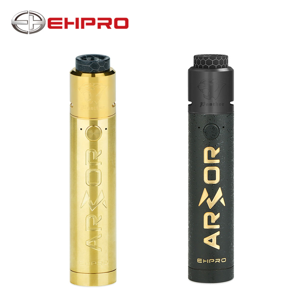 дрипка ehpro model t rda черная Original Ehpro Armor Prime Mech Kit with Ehpro Panther RDA Tank supports 0.15ohm coil no 18650 battery Electronic Cigarette kit