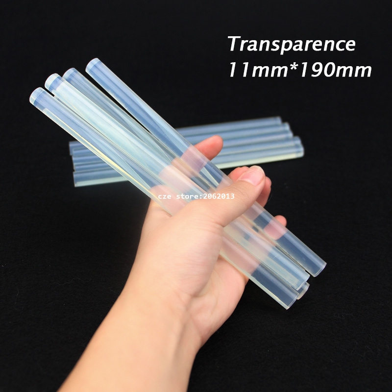free-shipping-10pcs-lot-non-toxic-transparent-11mm-x190mm-7mmx190mm-hot-melt-glue-sticks-for-diy