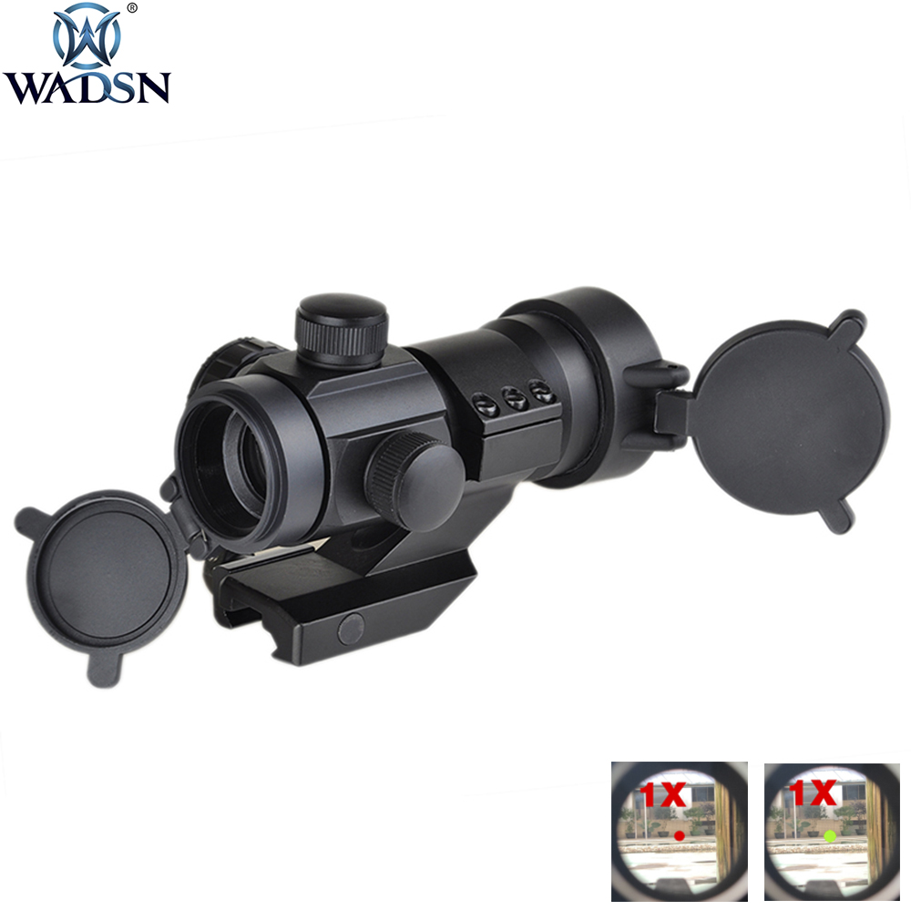 WADSN Hunting Optics Riflescope Airsoft Rifle Scope 1X M3 Red/Green Dot Sight Tactics Airsoft Shoot With Cantileve Mount AO3011