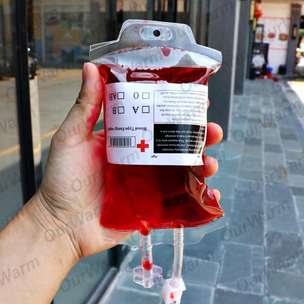 OurWarm 10 шт. 400 мл крови пить воду мешок ПВХ многоразовое кровяное энергетический напиток под индивидуальный заказ мешок шприц с вампир косплей, вечеринка, Хэллоуин украшения