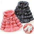 Crianças bebê outerwear meninas casaco de inverno quente jaqueta de inverno de algodão acolchoado