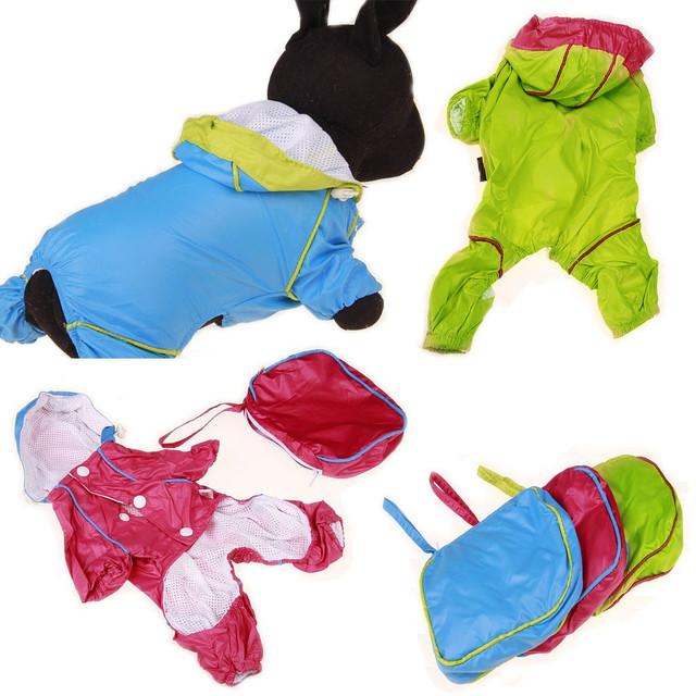 Small Dog Rain Coat W/ Carrying Bag