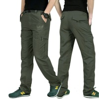 Fashion Summer Waterproof Casual Pants Men Military Travel Active Trousers Army Green Breathable Mens Pockets Cargo