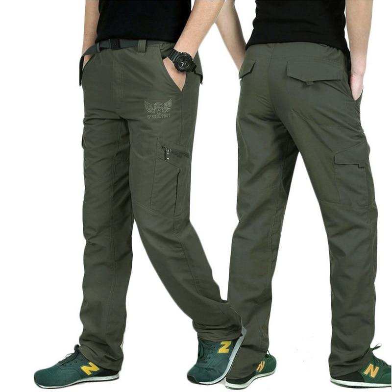 Lomaiyi плюс Размеры Для мужчин S Военная Униформа Стиль Брюки карго Для мужчин летние дышащие мужские Мотобрюки бегунов армии карманов Повседневные штаны для мужчин, am005