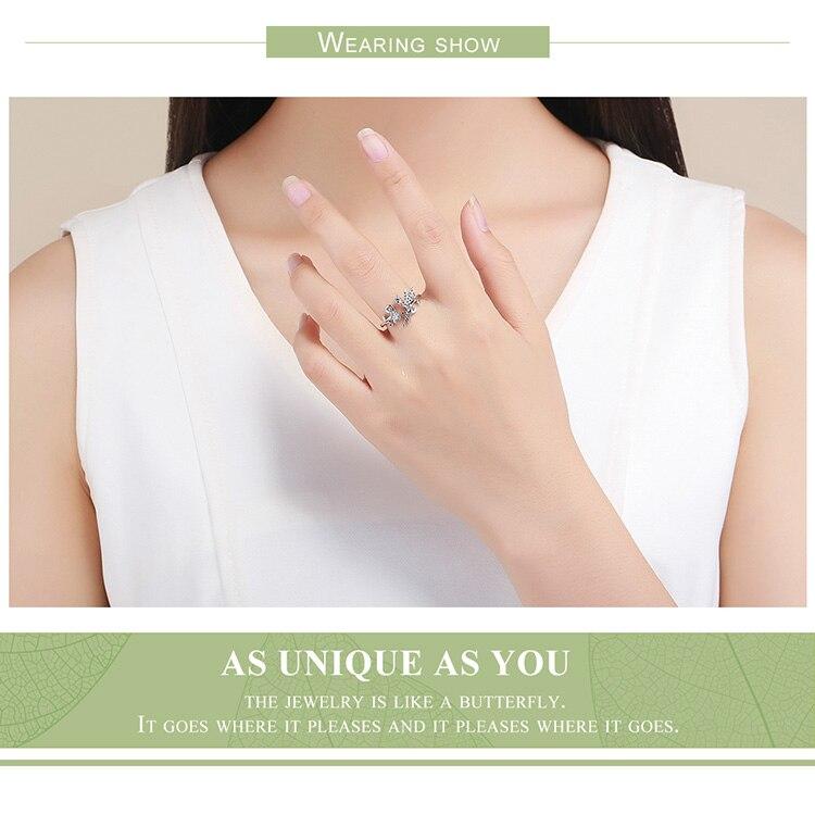 HTB1aUAUMpzqK1RjSZFvq6AB7VXal BAMOER New Arrival 925 Sterling Silver Fairy & Daisy Flower Open Size Finger Rings Women Wedding Engagement Jewelry BSR025
