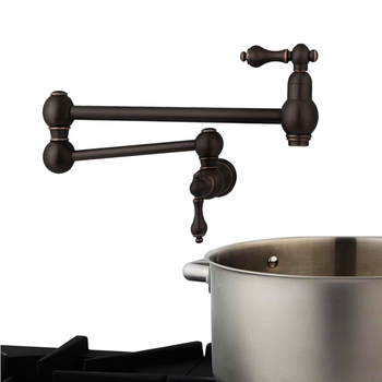 кран наполнителя горшка | Твердый латунный кран для наполнителя кастрюль с двойным соединением и настенным креплением, кухонный кран для наполнителя кастрюль, кран ...