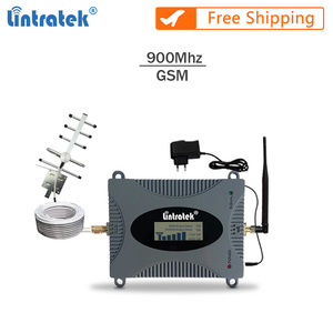 Image 1 - Lintratek GSM Repeater Voice Amplifier 900Mhz 2G Signal Booster Full Kit GSM 900 Cellphone Booster Yagi Antenna+10M Cable