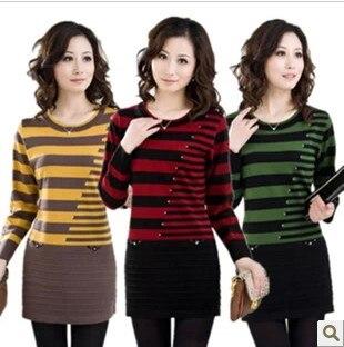 Las nuevas mujeres de Invierno suéter de cachemira suéter Que Hace Punto que bas
