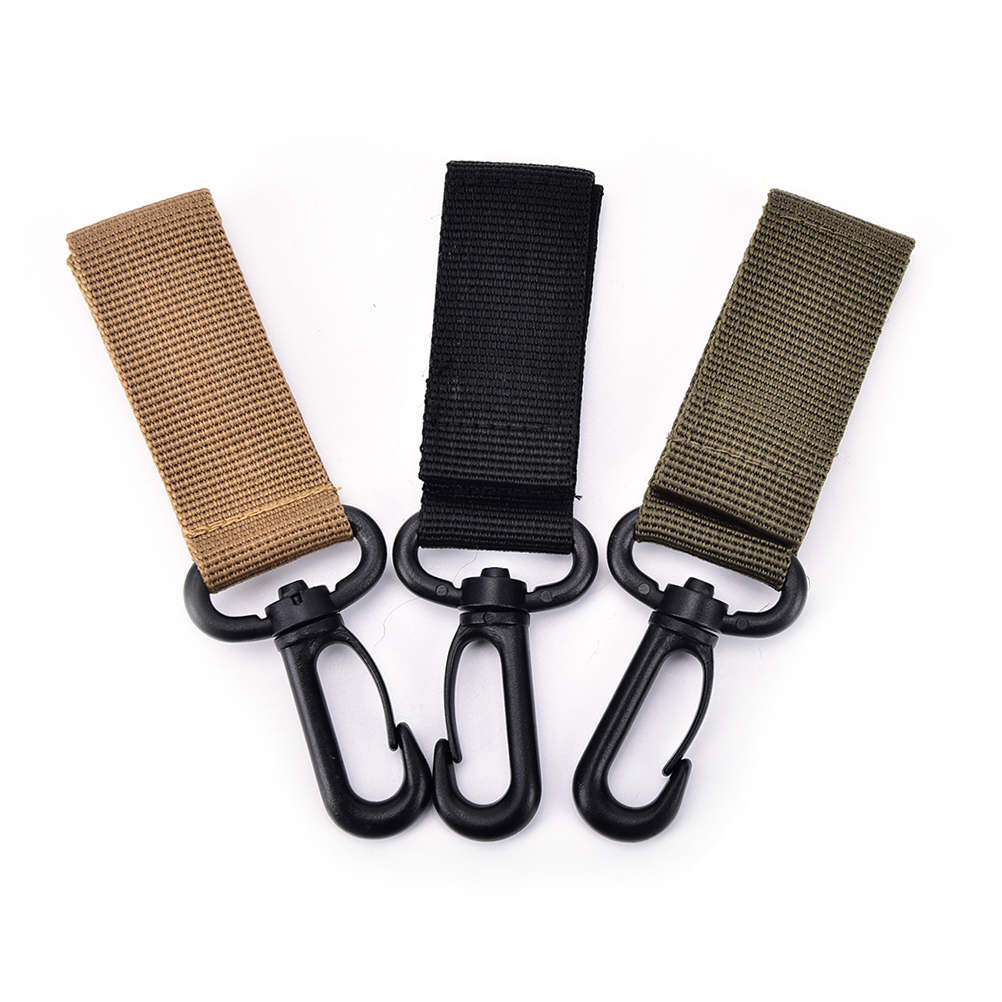 Metal Buckle Camping Hiking Accessories Tactical Nylon Climbing Carabiner Hook Gear MOLLE Webbing Buckle Key Hanging System Belt