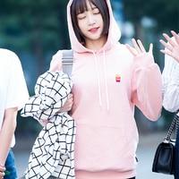 Kpop Home BTS Bangtan Boys JIN Same Harajuku Style Embroidered French Fries Sweatershirt Man And Women
