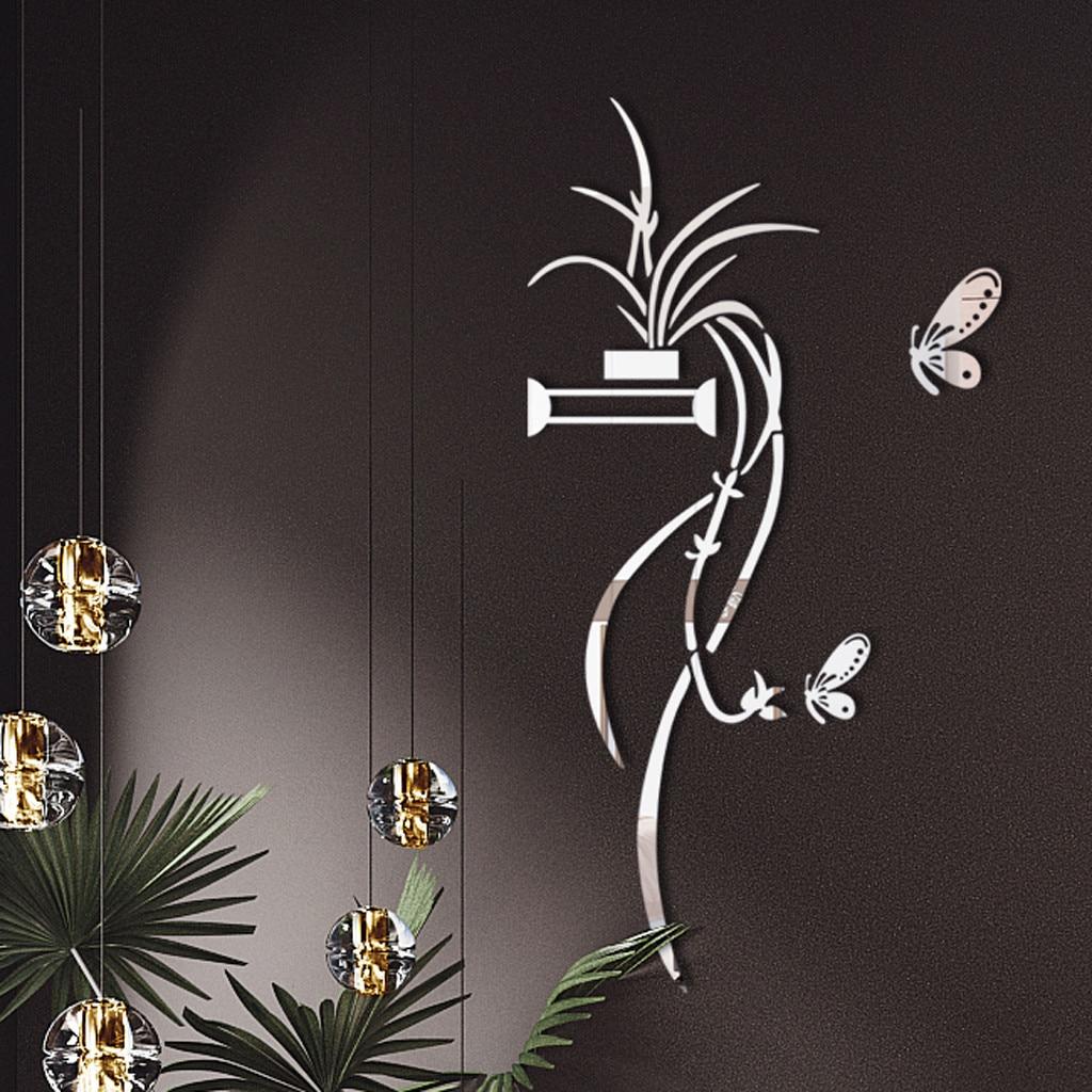 Adhesivo 3D Diy para pared de acrílico con forma de flor, pegatinas modernas, decoración para sala de estar, dormitorio, decoración de pared, pegatina en el papel tapiz #30