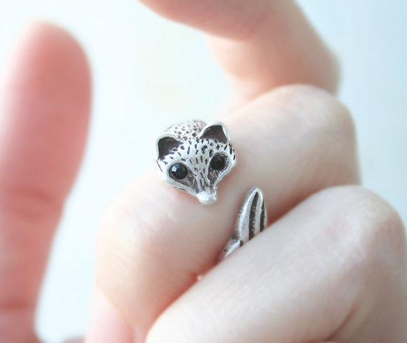 Fox Ring Antique Fox BFF Ring Antique Vintage Jewelry Free Size For men women Summer style