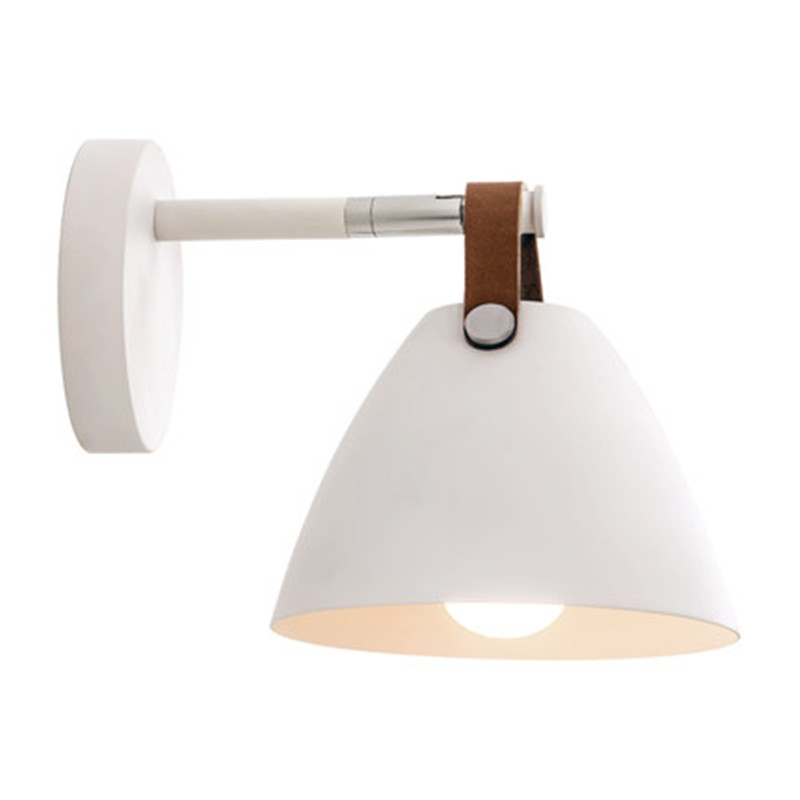 Simple Modern LED Wall Light Loft Style Adjust Wall Sconce Iron Leathern Rotating Bedside Wall Lamp Fixtures Indoor Lighting american copper adjust wall sconce simple vintage led wall light fixtures with plug switch bedside wall lamp indoor lighting
