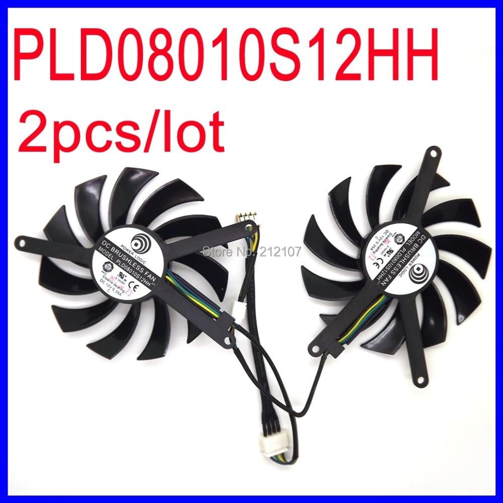 T128010SM 75mm DC 12V 0.2A 40mm 3Pin Graphics Video Card Cooling Dual Fan for N470SO N580UD N580SO GTX460 GTX470 GTX580 HD5870
