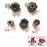 1\/4'' 1\/2'' 12.7mm 6.35mm Collet Nut Cone Router for DEVON 1316 1316-1 1324 Woodworking engraving machine POWER TOOLS PART