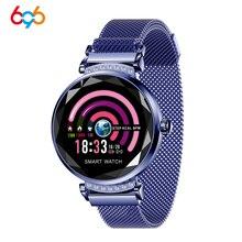696 relógio inteligente h1 h2 pulseira freqüência cardíaca relógio de pressão arterial pedômetro à prova dwaterproof água atividade fitness rastreador h8 pulseira feminina