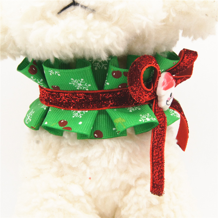 Christmas Small big dog cat pet Bow tie collar pitbull golden retriever dog collar dog necklace pendant