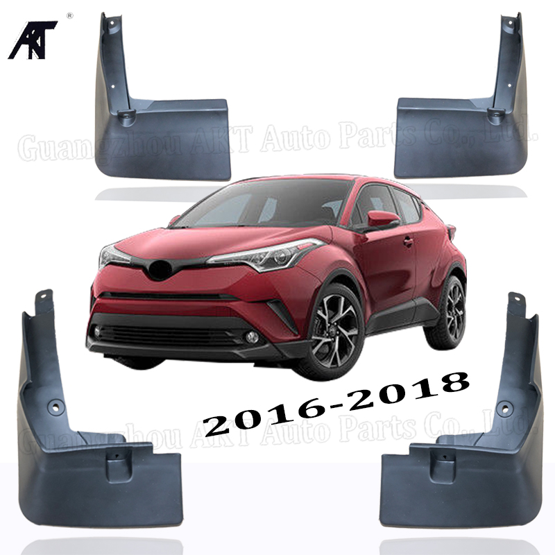Car Styling Auto Accessories 4pcs Car Mudflaps Molded Splash Fender Mud Flaps Mud Guard For Toyota C HR CHR 2016 2017 2018 Mudfl|Mudguards| |  - title=