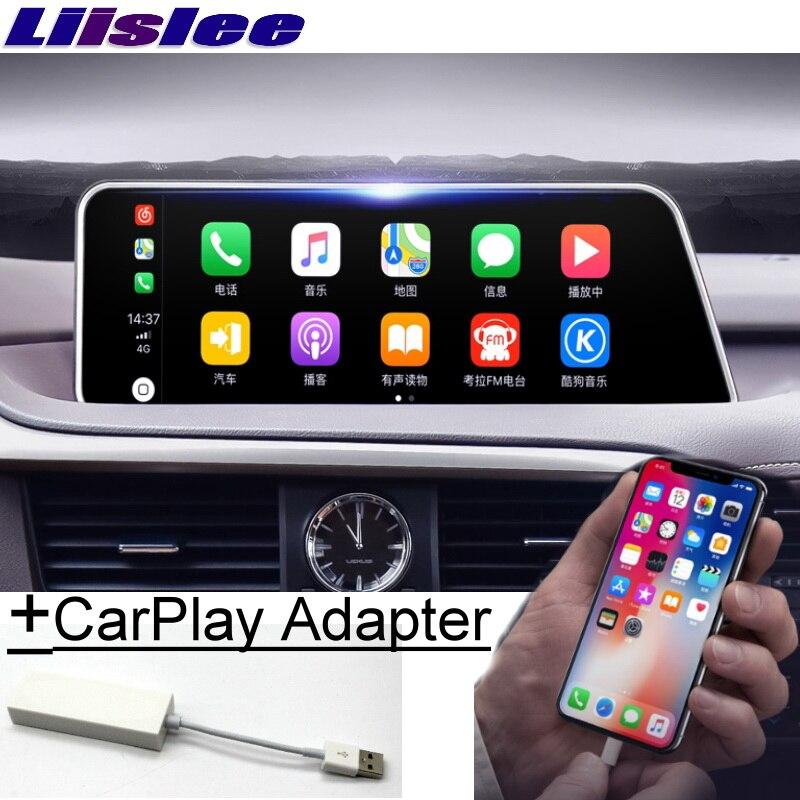 Para Lexus RX RX AL20 200 T 450 h 2015 ~ 2019 Liislee Reprodutor multimídia Carro Rádio NAVI 12.3 Tela carPlay Adaptador de Mapa de Navegação GPS