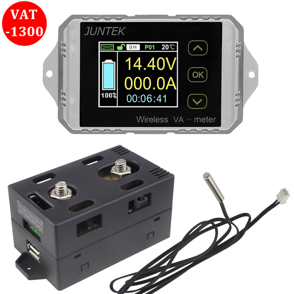 2018 Upgrades VAT 1300 Multifunction Wireless Bi directional Volt Ammeter Capacity Watt Table Coulometer Free Shipping