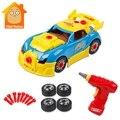 Игрушки для мальчиков строительные инструменты для лепки гоночный автомобиль комплект со звуком и светом винт строительство набор инструментов образовательные игрушки своими руками - фото