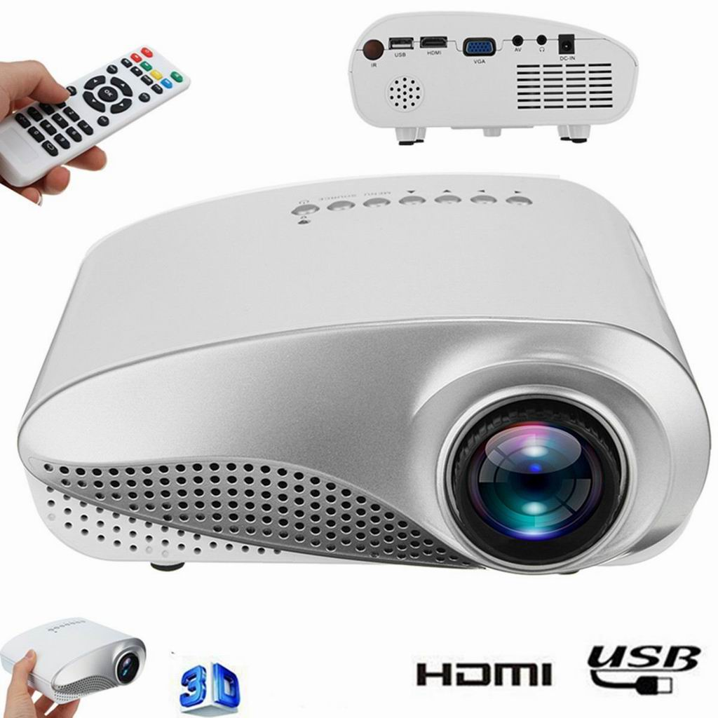 HDMI 1080P Mini Projector LED Multimedia Home Video Theater USB VGA TV AV