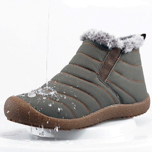 Зима Согреться Мужчины Сапоги Водонепроницаемый Снега Сапоги Ботинки Хлопка открытый Вскользь Ботинки Человек Моды Снег Сапоги Botas Хомбре 2А
