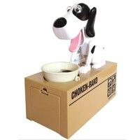 Cute 5 Colours Super Fun Cartoon Money Boxes Creative Birthday Gift Supply Dog Piggy Bank Children